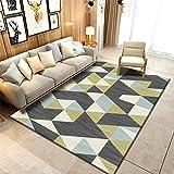 Teppich Für Terrasse grau Teppich Salon Salon gelb gelb kleines Dreieck Muster Anti-Schmutz Teppich...