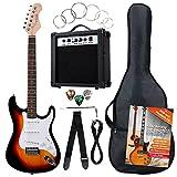 Rocktile Banger's Pack Komplettset E-Gitarre Sunburst (Verstärker, Tremolo, Tasche, Kabel, Gurt,...