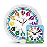 Cander Berlin MNU 1030 Kinderwanduhr (Ø) 30,5 cm Kinder Wanduhr mit lautlosem Uhrenwerk - Ablesen...