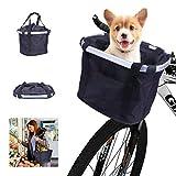 Fahrradkorb Hund Vorne,Fahrrad Lenker Korb Haustier,Faltbar Fahrrad Vorne Korb Gross Abnehmbare...
