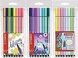 STABILO Premium-Filzstift - Pen 68 - Pastelltöne 3x8er Sondersortierung | Pastellfarben,...