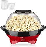 MVPower Popcornmaschine, 800W Popcorn Maker, Abnehmbares Heizflche Antihaftbeschichtung und groe...