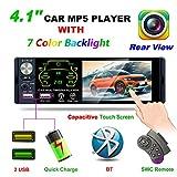 Explea Bluetooth-Autoradio mit 4,1'-HD-Touchscreen, FM/AM/RDS-Autoradio MP5 / MP3-Player mit 2...