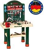 Theo Klein 8461 8461-Bosch Workshop mit extragroßer Arbeitsplatte Holzimitatation und viel...