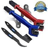 2 Pack Motorrad & Fahrrad Kettenreinigungsbrste Mountain Bike Reinigung Wartungswerkzeug Rot+Blau