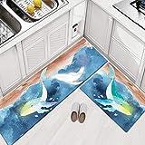 zhongyu Küche fußmatten, Teppich Leder fußmatten, öl-und wasserdicht Schlafzimmer Cartoon tür...