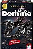 Schmidt Spiele SSP49287 Classic Line, Tripple Domino, mit groen Spielsteinen, bunt, 0.75 l