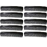 com-four® 10x Haarkamm, fein- und grobgezahnter Frisierkamm, handlicher und robuster Taschenkamm...
