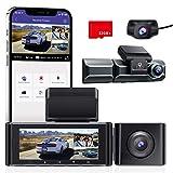 AZDOME 3 Lens Dashcam 1440P + 1080P + 1080P Auto Kamera mit WiFi, GPS, 4K Kamera vorne, Super...