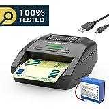 Detectalia D7X Automatischer Geldscheinprüfer mit aktuellem Kabel und Akku, 100% Erkennung und...