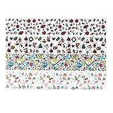 10 Rolls Transfer Nail Foil Sticker, Nagel Dekor Maniküre DIY Design, Nail Art Sticker getrocknete...