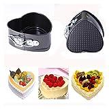 Jfsmgs Backformenset Heart-Shaped Edelstahl-Kuchen-Wannen-Behälter Non Stick Bakeware mit Schnalle...