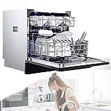 POEO Multifunktionaler Spülmaschine, Unterbaufähiger Tischgeschirrspüler Geschirrspüler mit...