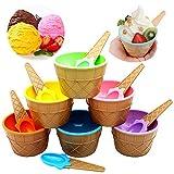 Ziyero Niedlich Bunte EIS-Schalen Eisbecher Geschenke Dessert Schalen Set Praktische Eisbecher Dish...