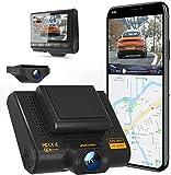 AQP Dual Dashcam Full HD 1080P Vorne und Hinten Autokamera, Dash Camera mit GPS & WiFi, G-Sensor,...