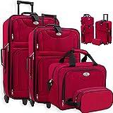 KESSER® 4tlg Trolley Kofferset | Reisekoffer Set mit Rollen | Komplettes Business 4er Set | S M L...