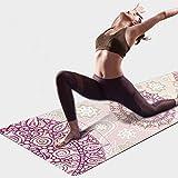 PIDO YOGA Yogamatte, 7 mm dick Bedruckte Wildleder TPE Fitnessmatte, 72'x 24' Zoll umweltfreundliche...