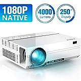 ABOX 4000 Lumen Beamer, Native 1080p (1920 x 1080) LED Videoprojektor tragbarer Full HD,...