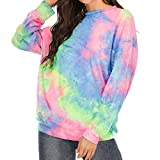 Frauen T-Shirts Langarm Sweatshirts Loose Print Shirt Damen Rundhalsausschnitt Casual Fashion Tees...
