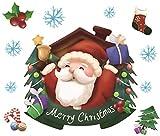 Kalun Wandaufkleber Weihnachten Wandtattoo Glas Wandaufkleber Weihnachten Neujahr Dekoration D