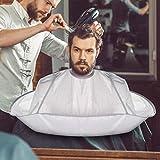 Haarschneideumhang Haarschnitt Friseurumhänge mit Flexibel Klettverschluss, Wasserdicht...