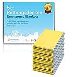 Premium Rettungsdecke von Urban Medical ® | Erste Hilfe Rettungsfolie | 5-15 Stück | Gold / Silber...