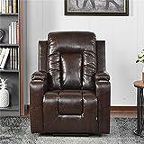 Elektrischer Fernsehsessel Aufstehsessel Relaxsessel Sessel mit Aufstehhilfe Braun