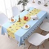 LIUJIU Tischdecke Abwaschbar Garten-Tischdecke Wachstischdecke PVC TischdeckenWasserabweisend...