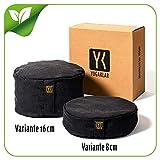 Yoga- und Meditationskissen 16 cm aus Baumwolle gefüllt mit Buchweizenspelzen – stabil,...