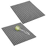 mDesign 2er-Set dekorative Spülbeckenmatte zum Schutz der Küchenspüle vor Kratzern –...