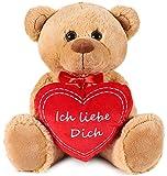 Brubaker Teddy Plüschbär mit Herz Rot - Ich Liebe Dich - 35 cm - Teddybär Plüschteddy...
