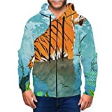 BODY Tiger Lying Near The Water Herren 3D Hoodie Full Zip Graphic Sweatshirts Pullover Casual Pocket...