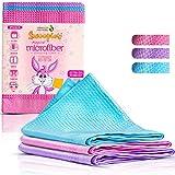 SWOOPIES® [3er] Premium Allzweck Mikrofasertücher, Magische Putztücher, Streifenfreier Glanz ohne...