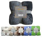 Ebitop Wohndecke, Kuscheldecke, Microfaser Flanell Kuscheldecke Plüschig, Kaschmir Touch Premium...
