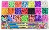 Mouttop Loom Bänder Set, 6800 Stück Loom Bands Kits DIY Gummibänder mit Aufbewahrungsbox /...