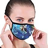 Earloop Safety Ma-SKS,Wild Underwater Sea Animal Aqua World Corals Tropical Fishes and Stingray,Anti...