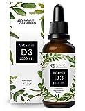 Vitamin D3 - Mehrfacher Sieger 2019/2020* - Laborgeprüfte 1000 I.E. pro Tropfen - 50ml (1750...