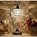 SYyshyin Europäische Luxus- Und Modische Kristall-LED-Schreibtischlampe, LED-Nachtlicht, Mit Vollem...