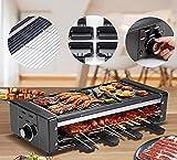 Elektrischer Rotisserie Grill, Tragbarer Elektrischer Grill, Teppanyaki Grill BBQ Grilling & Searing...