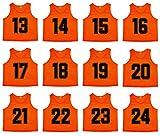 Oso Athletics Sets von 12 (1–12, 13–24, 25–36, 37–48) Premium-Polyester-Mesh-Trikots (orange...