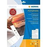 HERMA 7583 Fotophan Fotosichthüllen weiß (9 x 13 cm hoch, 10 Hüllen, Folie) mit...