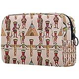Make-up-Tasche für Damen, geräumige Kosmetiktasche für die Handtasche, Reisen, 18 x 7,6 x 13 cm,...