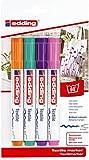 edding 4500 Textil-Marker - 4er Blister - Fun Farben - Rundspitze 2-3 mm - Zum Bemalen von Textilien...