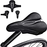 Fahrradsitzbezug gepolstert, extra weiches Komfort-Fahrradsattelbezugkissen, rutschfester...