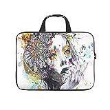 abstrakte Blume Haar Mädchen Laptoptasche Wasserdicht Laptop Aktentasche Mode Notebooktasche für...