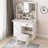Chendaorong Schminktisch Retro Dresser Tisch Schlafzimmer Lagerung Frisierkommode Frisierkommode...