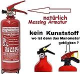 2 kg ABC Pulver Feuerlöscher NEU Orginalverpackt Brandklasse ABC , EN3 , Messingarmatur +...