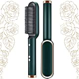 2-in-1-Haarglätter Bürste und Lockenstab Haarglätter mit eingebautem Kamm 20s Schnelle Erwärmung...