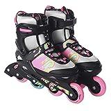 L.A. Sports Inliner Skate Soft Kinder Jugend Damen Größenverstellung 5 Größen verstellbar...