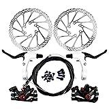 Yorbay Fahrrad Scheibenbremse Set, 160mm Scheiben und vorne hinten Bremse mit BB5 Bremsbeläge und...